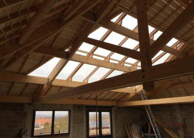 Verrière toit trapezoïdale