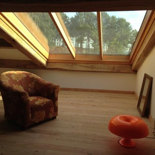 Verrière de toit en pente fixe