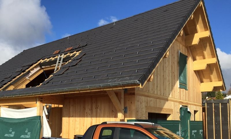 Préparation d'une pose de verrière sur toit pente - Avant grutage