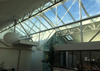 Projet d'une verrière de toit incliné - Pantin - Plan large