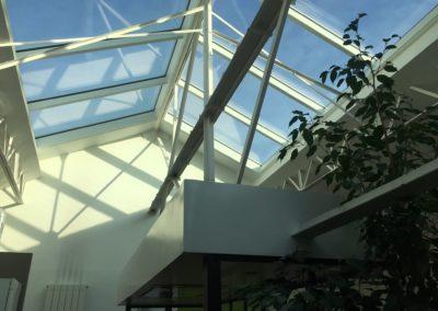 Projet d'une verrière de toit incliné - Pantin - Angle de vue 3