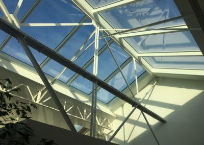 Projet d'une verrière de toit incliné - Pantin - Angle de vue 2