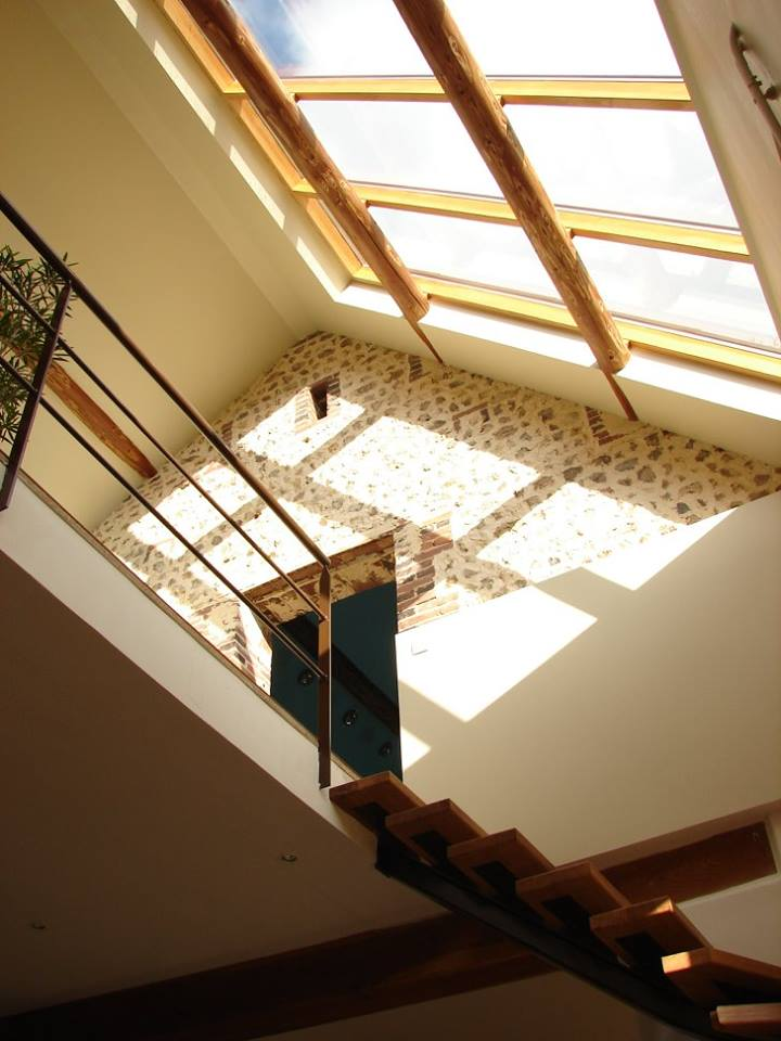 Verrière pour l'éclairage d'une escalier