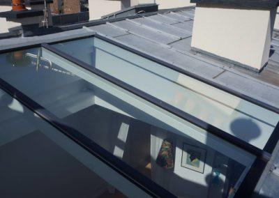 Verrière Elyos sur toit pente en zinc - Angle de vue extérieur