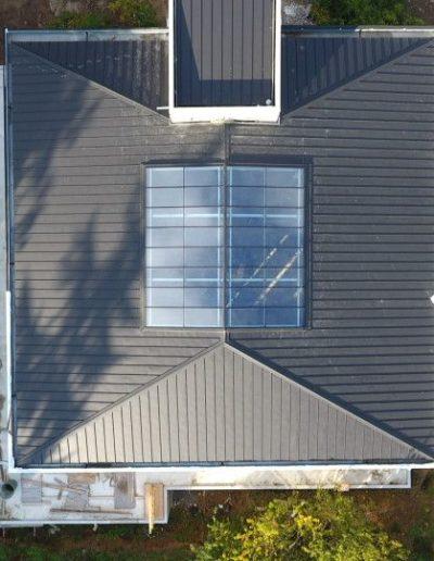 Verrière sur toit pente à faible inclinaison - Plan droit