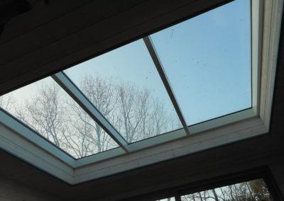 Verrière sur toit pente en zinc - Vue intérieure