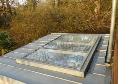Verrière sur toit pente en zinc - Vue extérieure