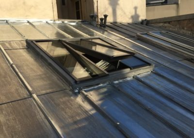 Verrière de toit sur toit incliné zinc - Vue extérieure