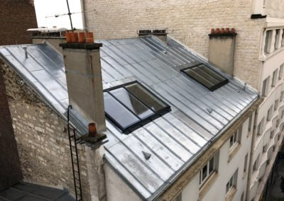 Verrière sur toit pente zinc - 4éme étage