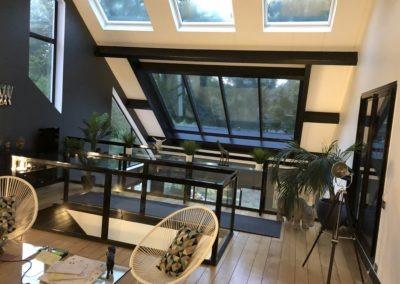 Verrière sur toit pente en tuile plate - Vue mezzanine