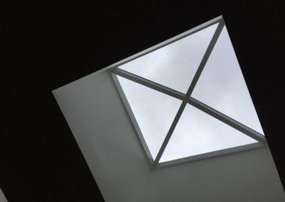 Verrière sur toit terrasse vue intérieure