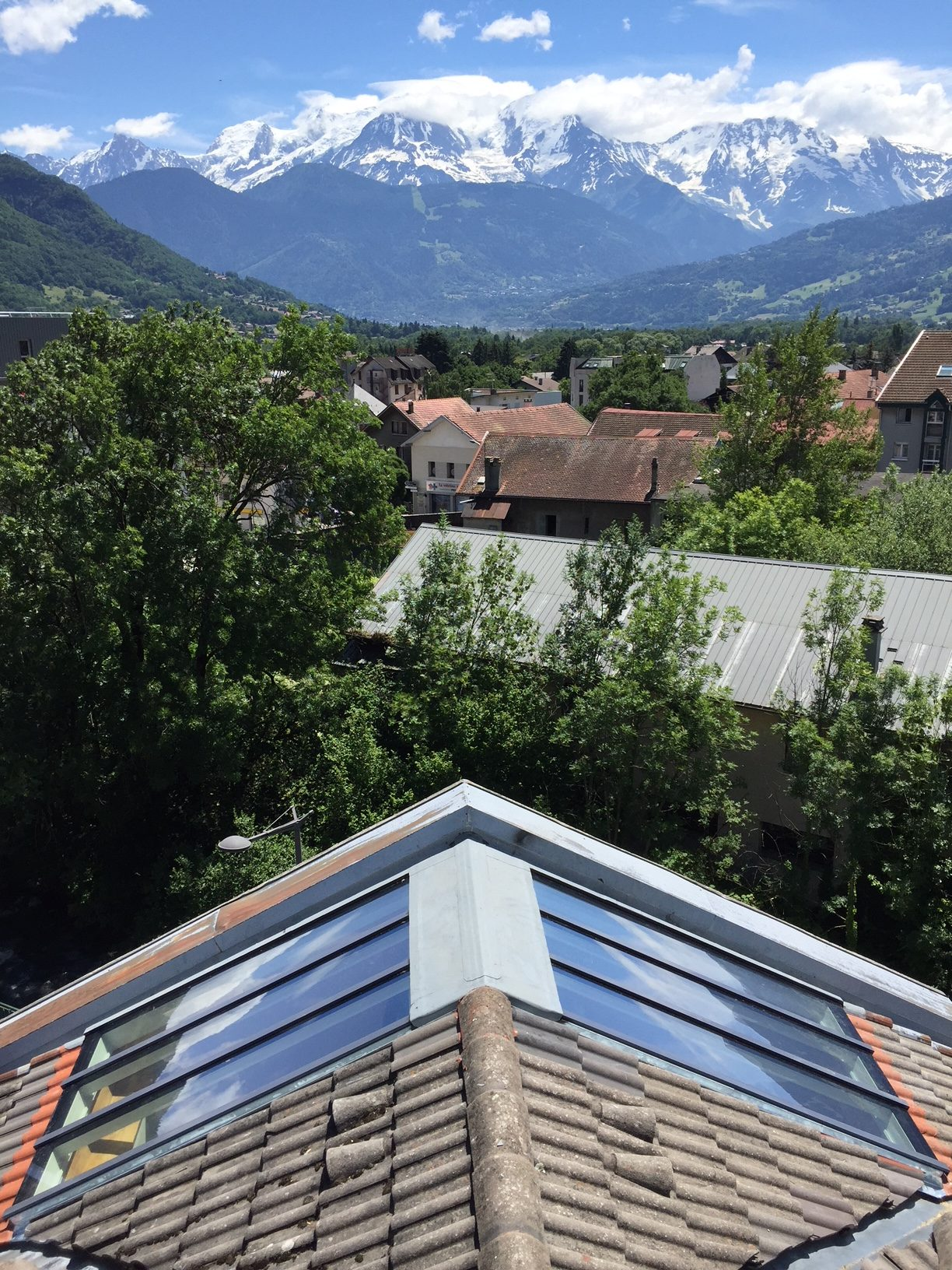 Verrière de toit avec store - Vue extérieure