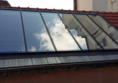 Verrière de toit après remplacement
