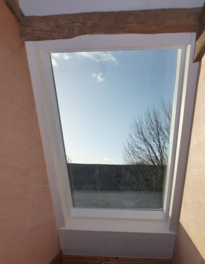 Angle de vue intérieur après installation de la verrière d'éclairage